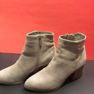 Charlotte Russe tan suede ankle boot for fall!